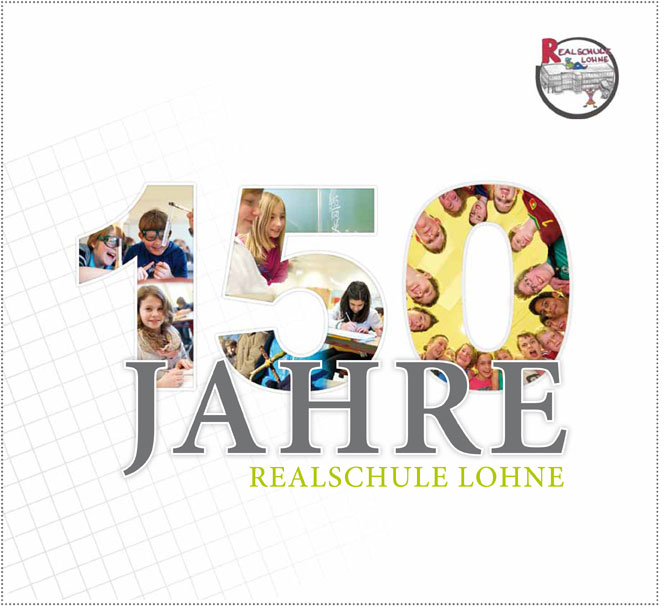Festschrift 150 Jahre Realschule Lohne: Hochglanz und emotional ansprechende Fotos ziehen sich durch das komplette Buch.