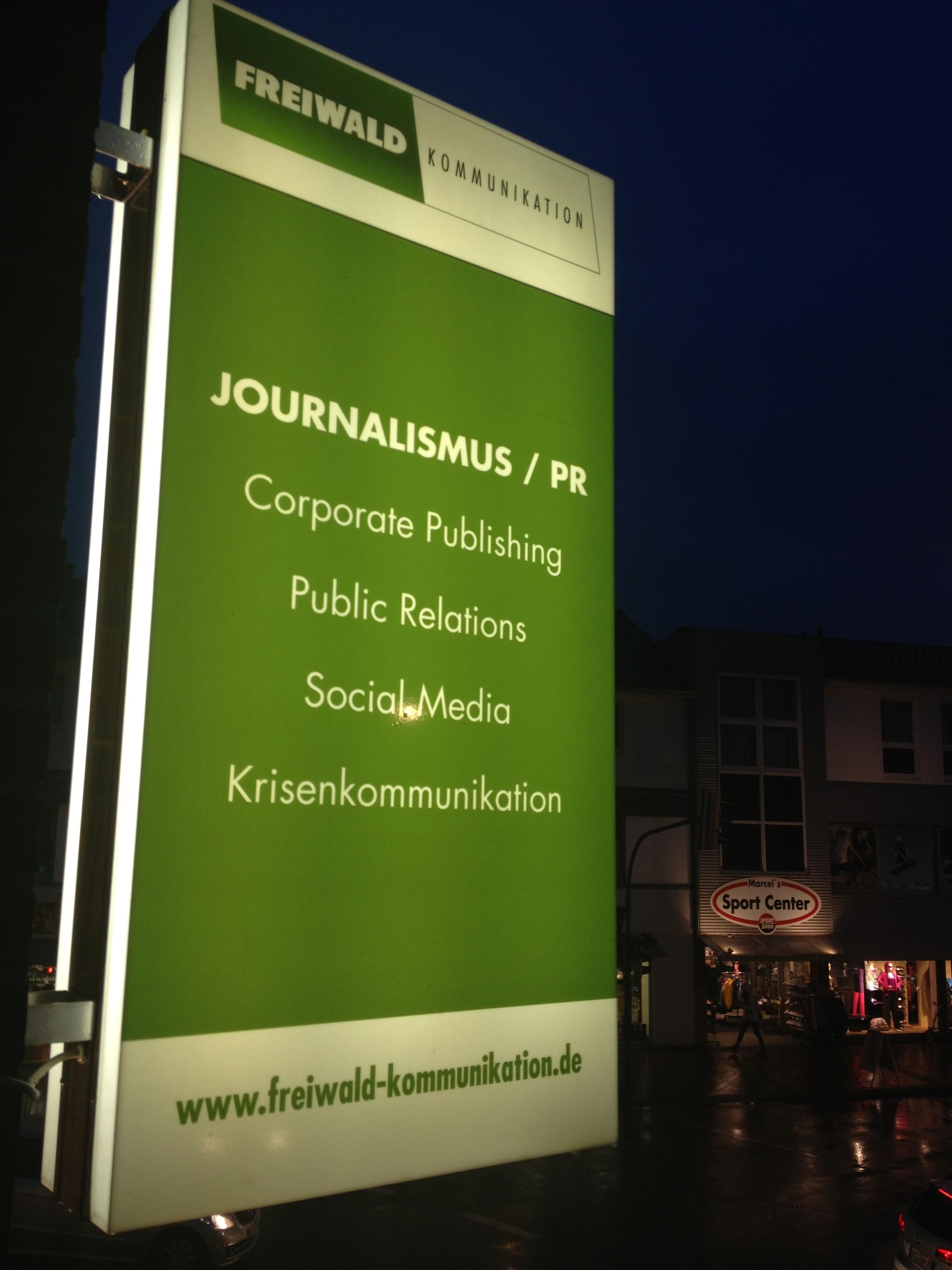 leuchtreklame Freiwald Kommunikation, Büro für Journalismus, PR und Marketing