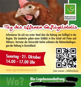 Der QR-Code in dieser Anzeige enthält eine Anfahrtsbeschreibung zu einem abgelegenen Hühnerstall.