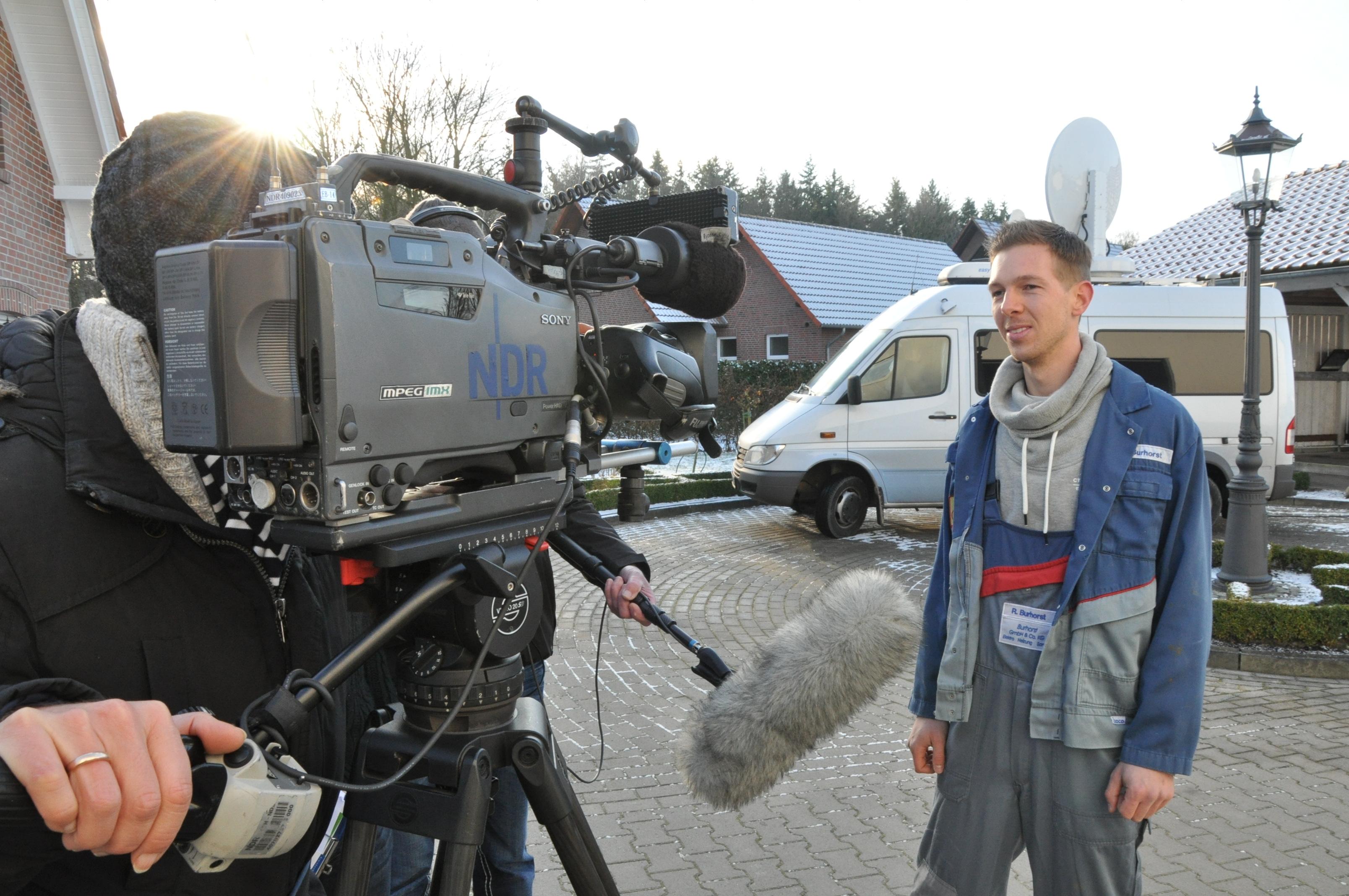 Eine gute Figur macht André Ording nicht nur bei seinem neuen Arbeitgeber sondern auch vor der Fernsehkamera. Foto: Stefan Freiwald